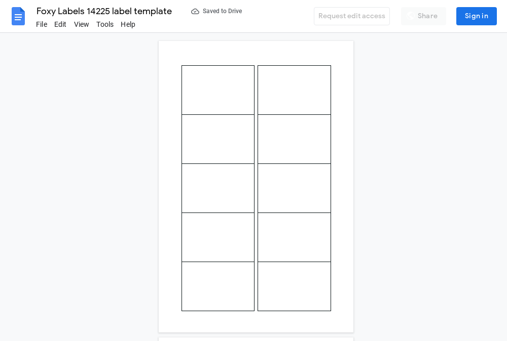 Avery 14225 Label Template