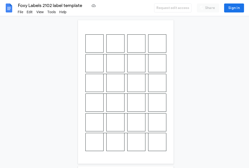Avery 2102 Label Template