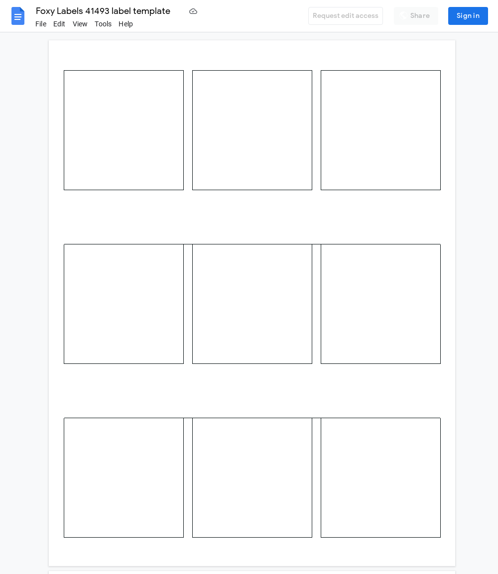 Avery 41493 Label Template