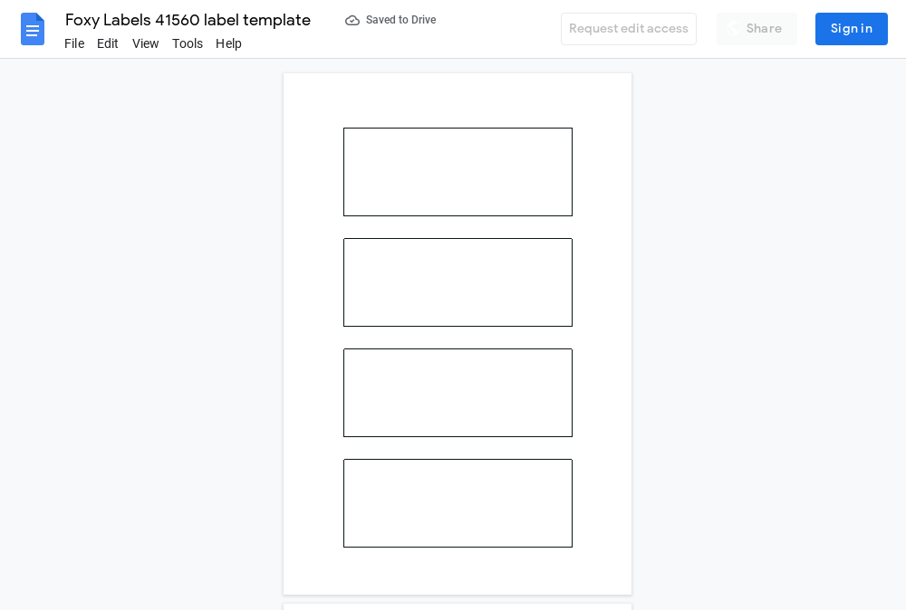 Avery 41560 Label Template