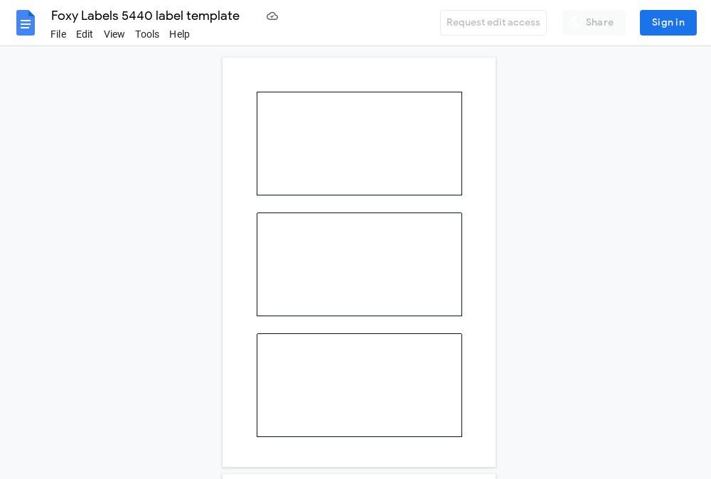 Avery 5440 Label Template