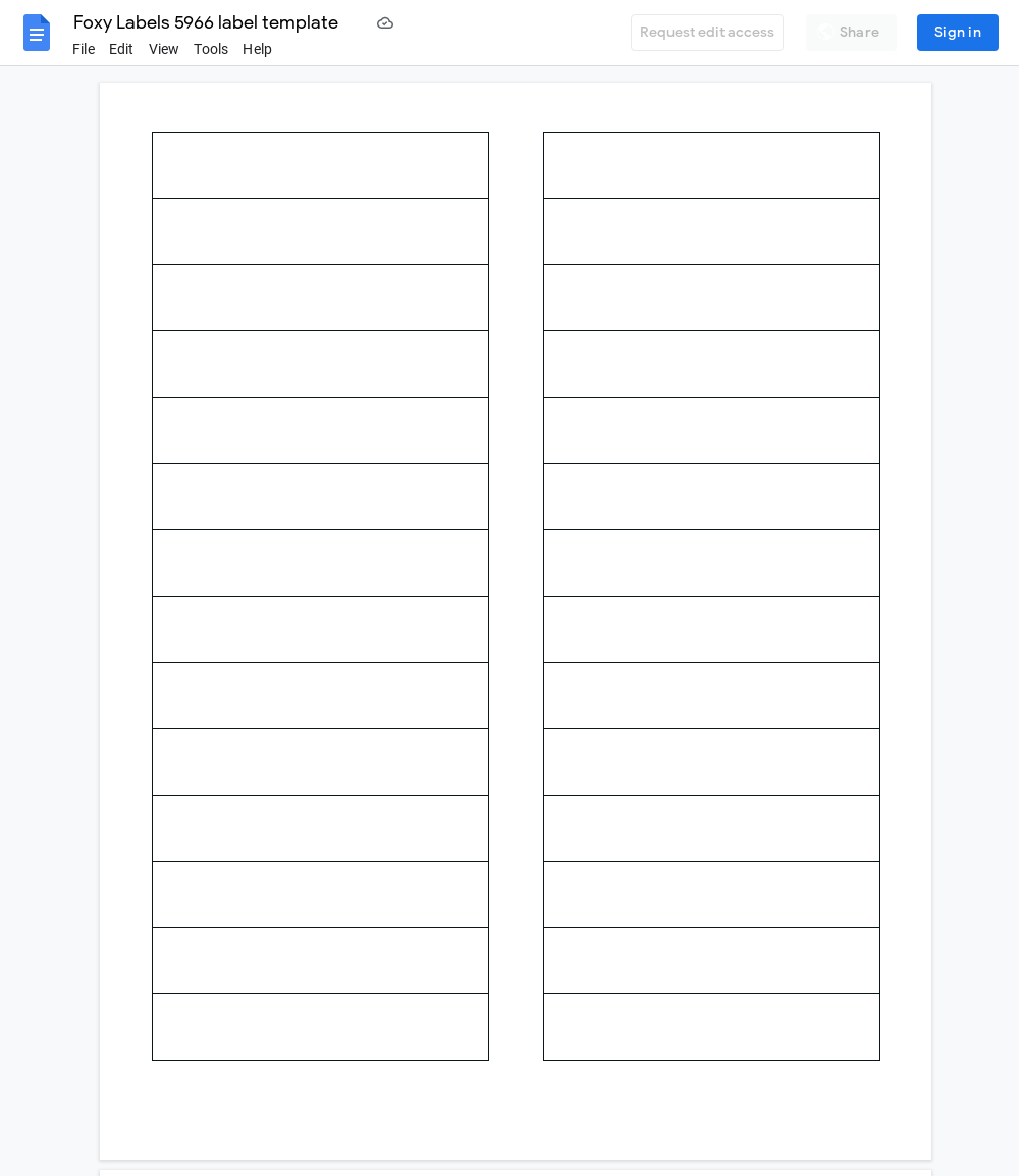 Avery 5966 Label Template