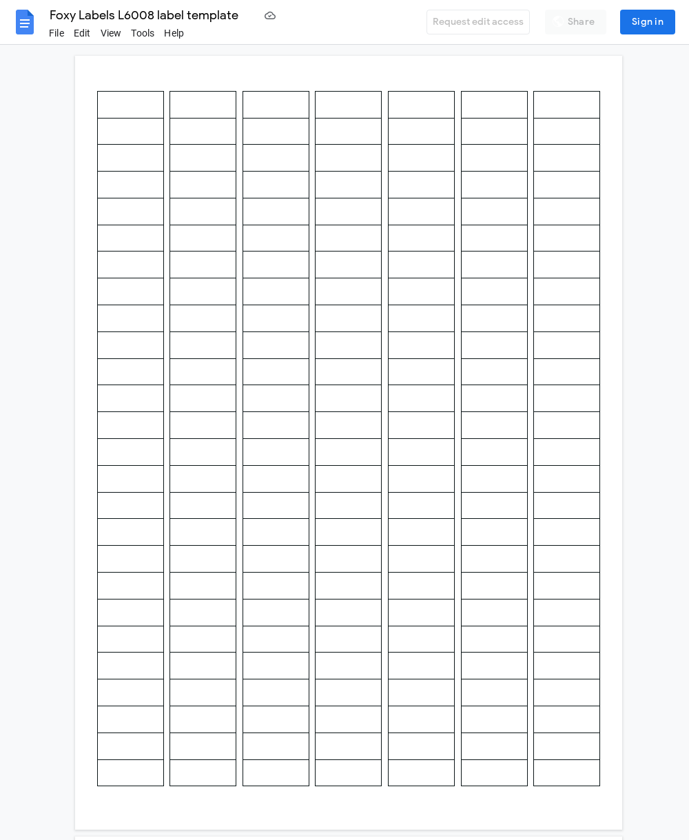 Avery L6008 Label Template