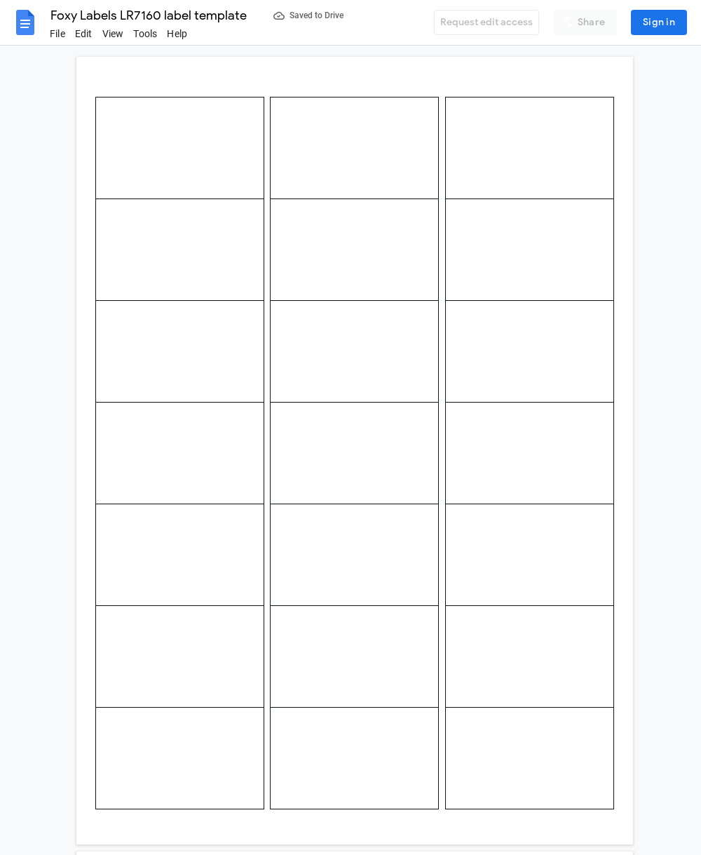 Avery LR7160 Label Template